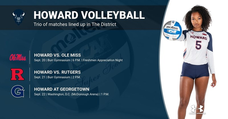 Howard Volleyball Set for A Big Weekend in The District